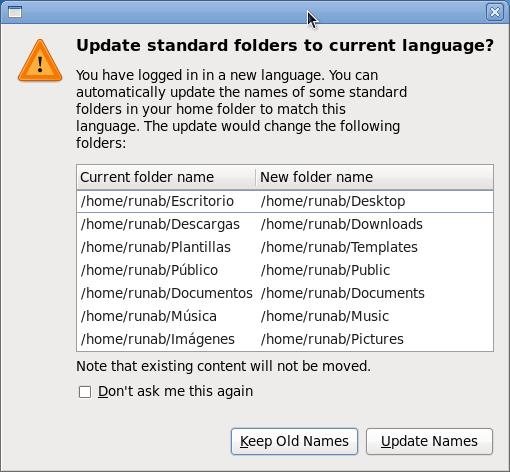 572831 – 'Update standard folders to current language